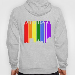 Augusta Georgia Gay Pride Rainbow Skyline Hoody