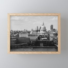 London, England view from the Tate Modern Framed Mini Art Print