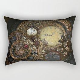 Steampunk Clocks Rectangular Pillow