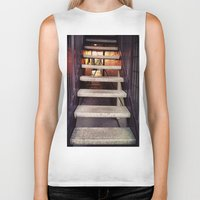concrete Biker Tanks featuring Concrete stairway by Emily Lomax