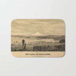 Tacoma and Mount Rainer, Washington (1878) Bath Mat