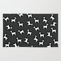 lama Area & Throw Rugs featuring LAMA by Monika Strigel®