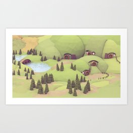 House Holes Art Print