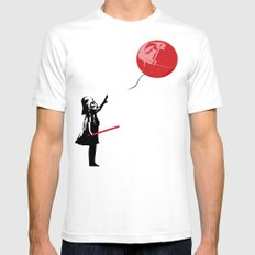 That's No Banksy Balloon (It's a Space Station) SMALL White Mens Fitted Tee