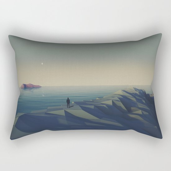 Trapped in low-poly Rectangular Pillow