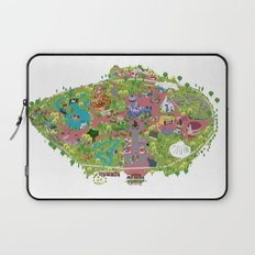 map of the happiest place on earth in CA  Laptop Sleeve