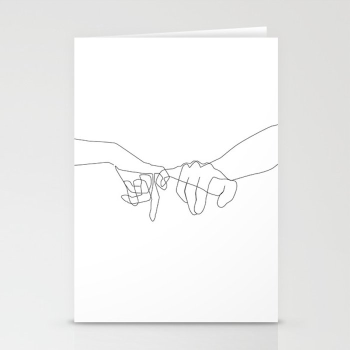 Pinky Swear Stationery Cards