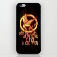 mockingjay iPhone & iPod Skins featuring Mockingjay by KanaHyde