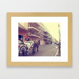 Bourbon Street Carriage Framed Art Print