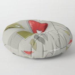 Atomic Mobile in Grey Floor Pillow
