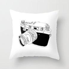 Camera Drawing Throw Pillow