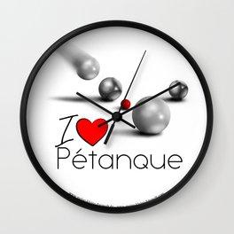 I love Pétanque Wall Clock