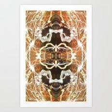 LED Lights Long Exposure Art Print