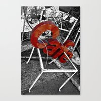 cafe Canvas Prints featuring Cafe by ChandalC