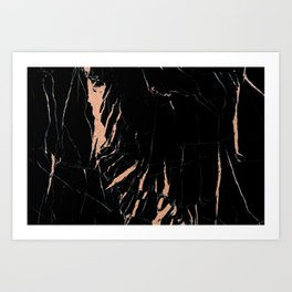 Black and rose gold / copper #2 Art Print