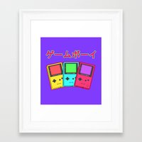 gameboy Framed Art Prints featuring Gameboy by Chrome