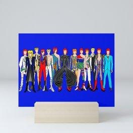 Blue Heroes Group Fashion Outfits Mini Art Print