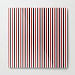 Red and Black Strpes Vertical Metal Print