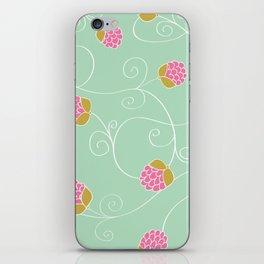 Raspberry Patch Aqua iPhone Skin