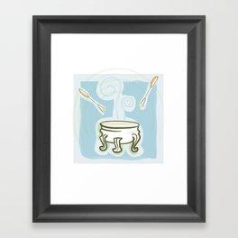 Cooking Time! Fondue Framed Art Print