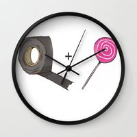 predator Wall Clocks featuring Predator  by Trixie & the Killer Productions