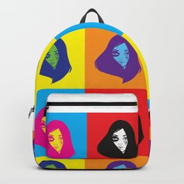 pop art girl Backpack