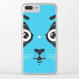 Cat face close-up Clear iPhone Case