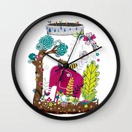 Elephant in a jar Wall Clock