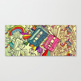 Tapes and Rainbows. Canvas Print