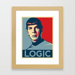 Logic Framed Art Print