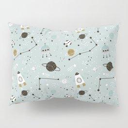 Space ships Animals Prints patterns Pillow Sham