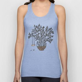 Potted Backyard Unisex Tank Top