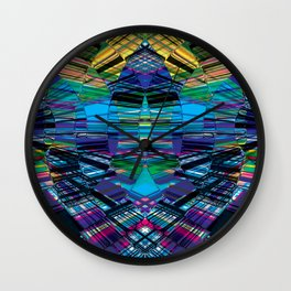 Cyber dimension Wall Clock