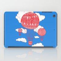 hot air balloon iPad Cases featuring Hot Air Balloon by lush tart