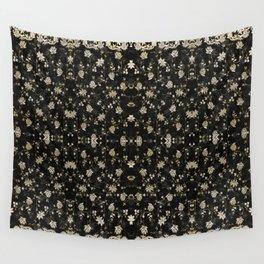 Midnight Romance Sari Wall Tapestry