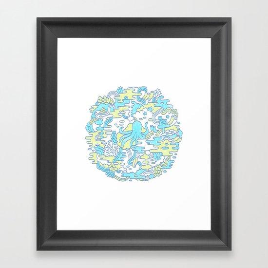 Ocean Zone Framed Art Print