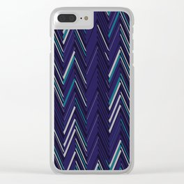 Abstract Chevron Clear iPhone Case