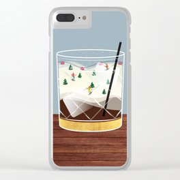 Cocktail Landscape White Russian Clear iPhone Case