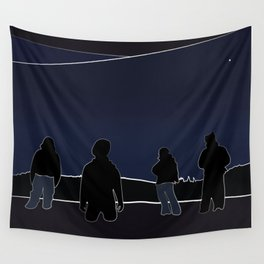 Silhouettes in the Snow Wall Tapestry
