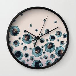 Raining Cat Wall Clock