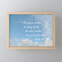 The Heavens Declare Framed Mini Art Print