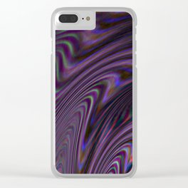 Violet Rays XXII Clear iPhone Case