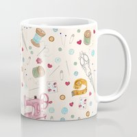sewing Mugs featuring Sewing by Epoque Graphics
