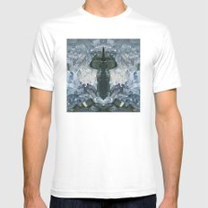 crystaux White Mens Fitted Tee MEDIUM