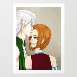 Healing with a kiss Art Print
