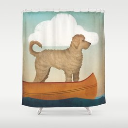 Doodle Goldendoodle Labradoodle Canoe Fowler Shower Curtain