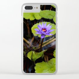 Water Lily Dreams Clear iPhone Case