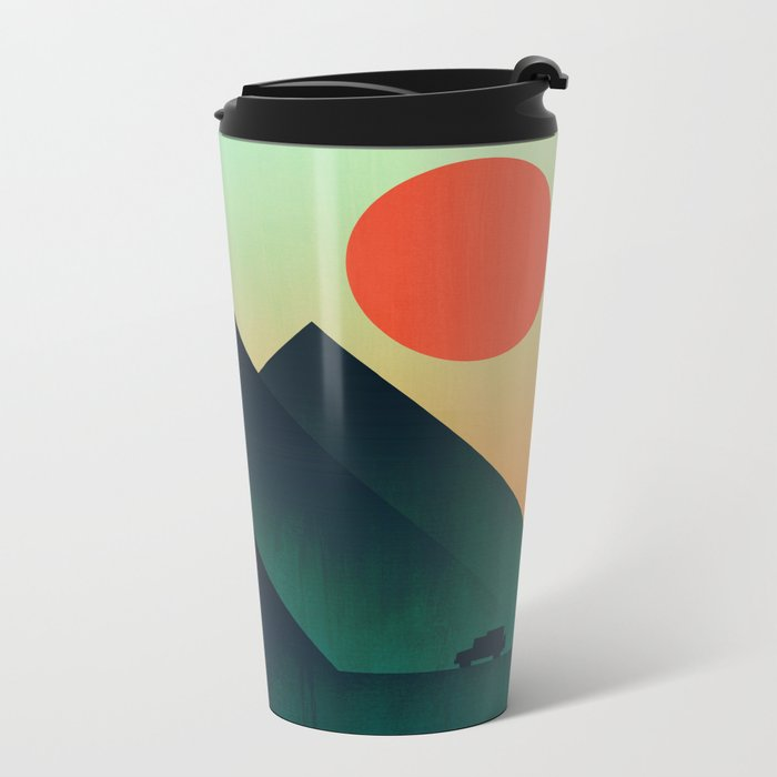 World to see Metal Travel Mug