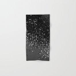 Dark Gray Black Lady Glitter #1 #shiny #decor #art #society6 Hand & Bath Towel