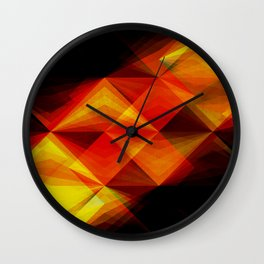 Koi Against the Current Wall Clock